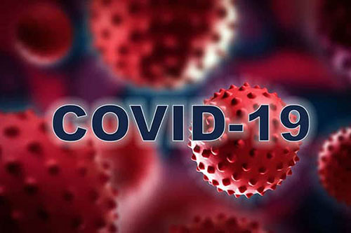 Covid-19 flu virus collage