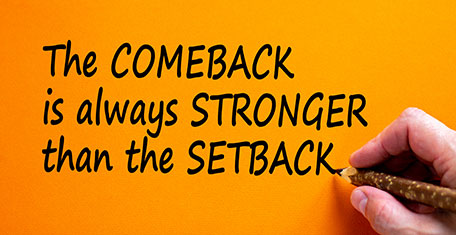 Graphic business comeback or setback