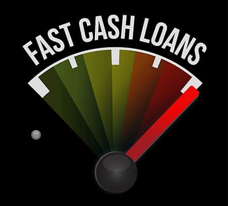 Fast cash loans speedometer illustration design graphic