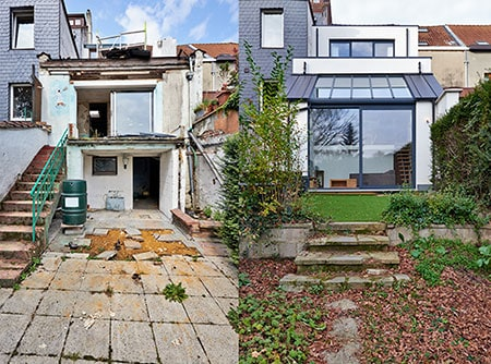 Multifamily fix and flip before and after photo